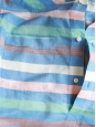 Multi-colored striped modal and ramie shirt Size XS
