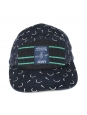 White and blue denim cotton knitted cap NEW