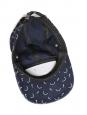 Casquette Baleapop denim et tricot bleu à motifs blancs NEUVE