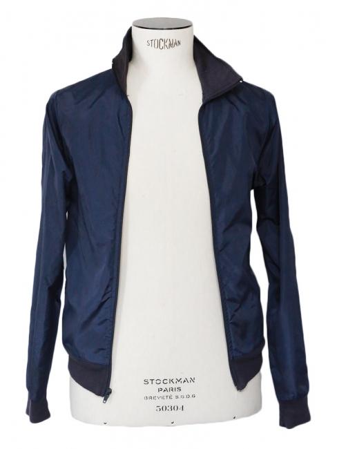 Navy blue nylon windbreaker jacket Size XS