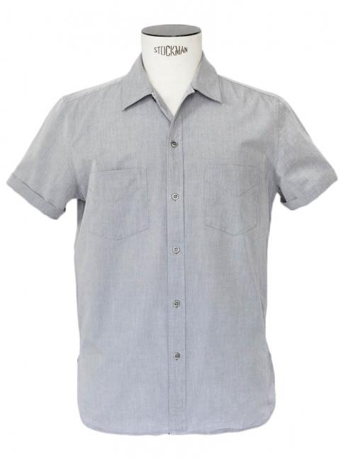 Louise paris apc chemise manches courtes en coton gris - Bleu gris clair ...