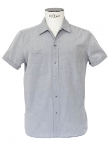 Light grey cotton short sleeves shirt Retail price €130 Size M