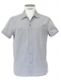 Light blue grey cotton short sleeves shirt Retail price €130 Size M
