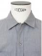 Chemise manches courtes en coton gris clair Px boutique 130€ Taille M