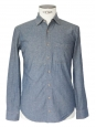 Denim blue chambrai cotton long sleeved shirt Size XS