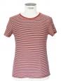 T-shirt manches courtes rayé rouge noir blanc Px boutique 75€ Taille XS