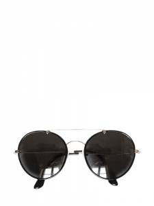 Black and silver round frame sunglasses Retail price 200€ NEW