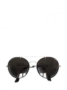 Lunettes de soleil rondes monture métal noir et argent Px boutique 200€