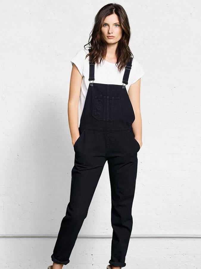 la vente de chaussures acheter maintenant belle couleur Louise Paris - RAG & BONE Salopette pantalon en jean noir Px ...