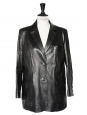 Classic black fine leather jacket Size 40/42
