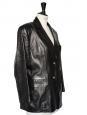 Veste classique en cuir fin noir Taille 40/42