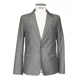 Veste blazer classique en coton gris Prix boutique 360€ Taille S