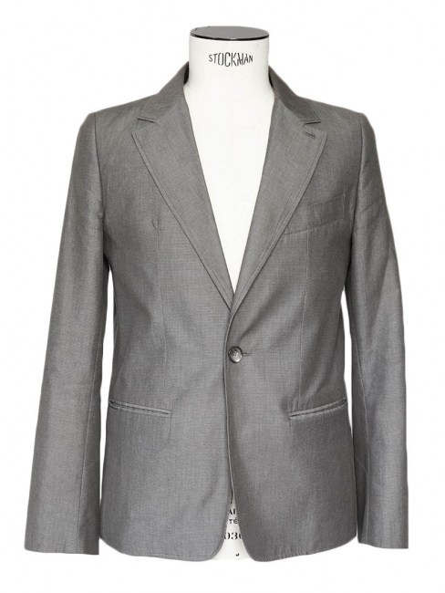 Men's grey cotton classic blazer jacket Retail price €360 Size S