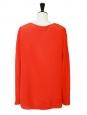 Blouse manches longues en soie rouge vermillon NEUVE Px boutique 700€ Taille 40/42