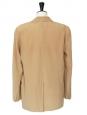 CHLOE Veste blazer fluide à épaulette en crêpe de soie beige camel Px boutique 1300€ Taille 38