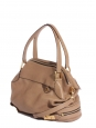 Beige leather Cary zipper crossbody satchel bag Retail price €1400