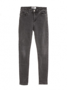 Pantalon jean PIN gris washed skinny taille haute Px boutique 190€ Taille 24/32