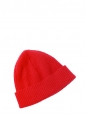 Bright red very soft wool and angora hat NEW