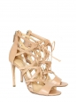 Sandales stilettos BOOMERANG en cuir beige nude Px boutique 1180€ Taille 37