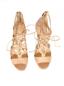 BOOMERANG Nude beige leather stiletto sandals Retail price €1180 Size 37