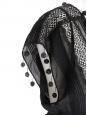 Robe décolletée en dentelle et coton noir Px boutique Taille