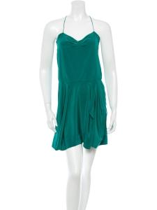 495d614a757f Robe à bretelles fines en soie vert émeraude Px boutique 850€ ...