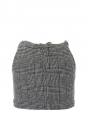Grey glen check wool mini skirt Retail price €250 Size 38