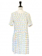 Colorful abstract printed cut out back dress Retail price €230 Size 34