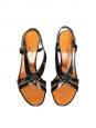 LANVIN Sandales à talons en cuir verni noir Px boutique 600€ Taille 36