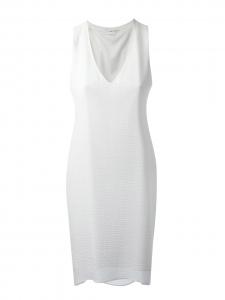 Robe tunique sans manches en jersey texturé blanc Px boutique 285€ Taille 38