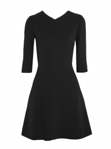 Black crepe skater dress Retail price €1200 Size 38
