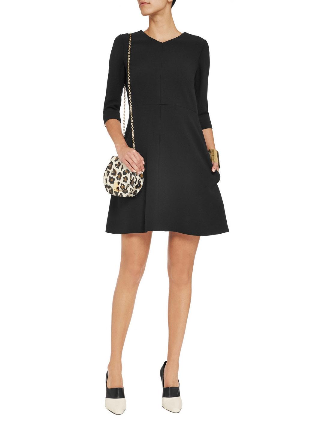 louise paris chloe robe vas e manches 3 4 en cr pe noir px boutique 1000 taille 38. Black Bedroom Furniture Sets. Home Design Ideas