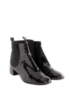 Bottines ankle boots en cuir verni noir Px boutique 800€ Taille 38,5