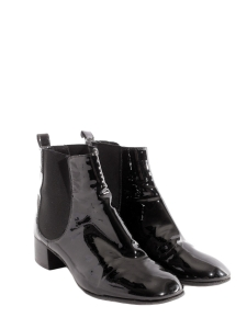 Black patent leather ankle boots Retail price €800 Size 38.5