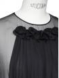 Robe en tulle et voile de soie plissé noir Px boutique environ 3000€ Taille 34