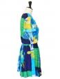 Robe manches courtes imprimé coloré Taille 36
