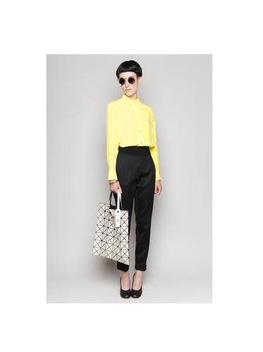 Chemise manches longues en soie jaune citron Px boutique 270€ Taille 36 ... c9c6220dcd9