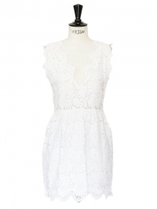 STELLA MCCARTNEY MAI white lace mini dress Retail price $1795 Size 38