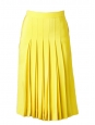 Bright yellow silk crepe pleated skirt Retail price €1030 Size 34/36