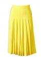 Jupe plissée en crêpe de soie jaune vif Px boutique 1030€ Taille 34/36
