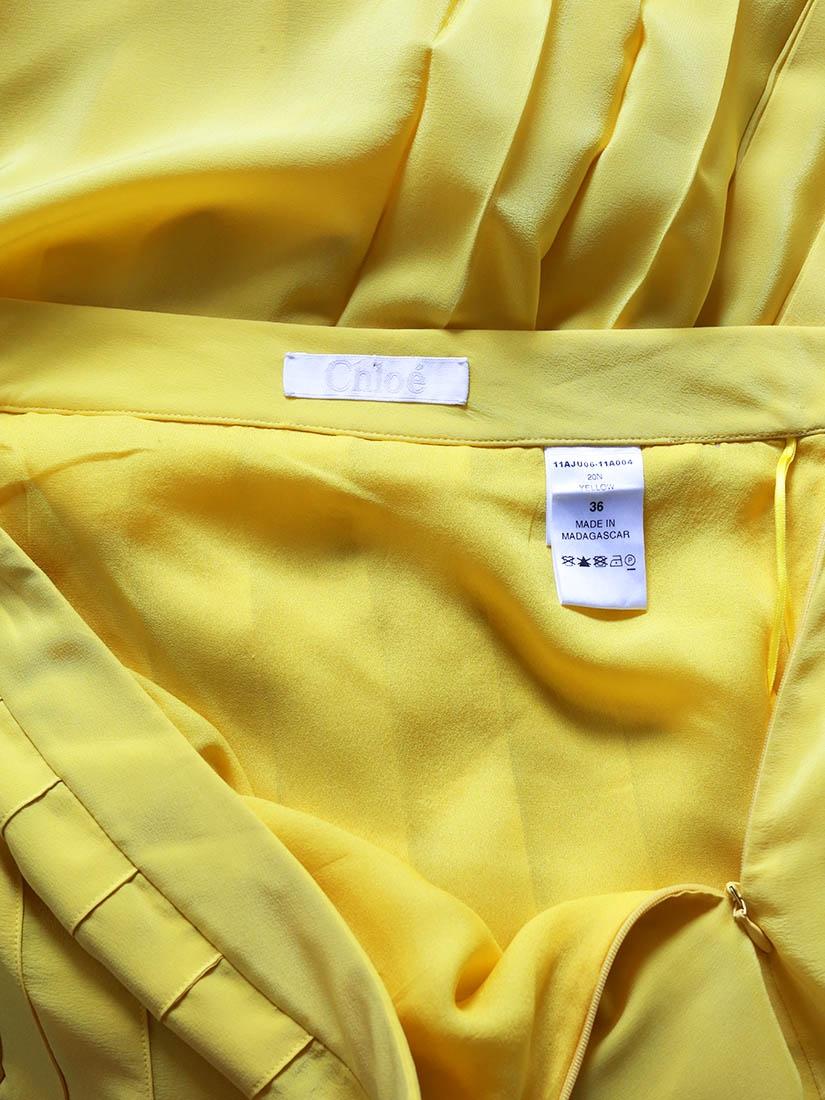 ... Jupe plissée en crêpe de soie jaune vif Px boutique 1030€ Taille 38 8dabcae5dc0
