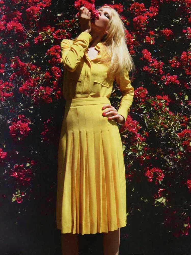 ... Jupe plissée en crêpe de soie jaune vif Px boutique 1030€ Taille 38 ... b3ddd59b76f