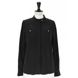 Marianna black silk top shirt Retail price €315 Size 36