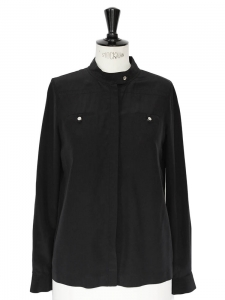 Marianna black silk top shirt Retail price €315 Size 36