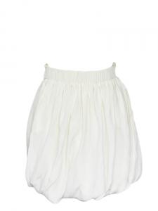 Jupe drapée taille haute en soie blanc ivoire Px boutique 1000€ Taille 36