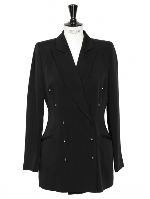 Luxury open back double breasted blazer jacket Size 38/40