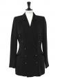 Blazer Couture cintré double boutonnière dos nu noir Taille 38/40