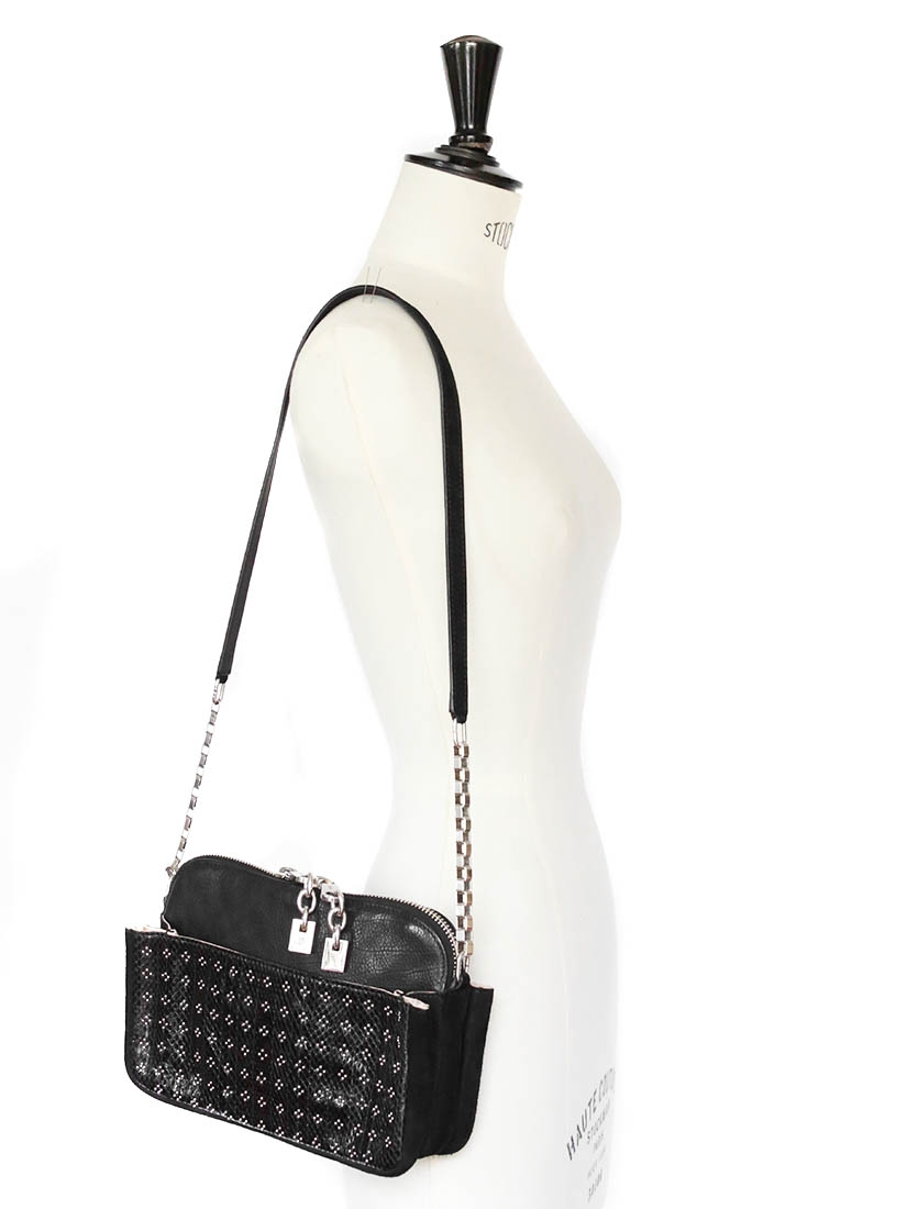 Louise Paris - CHLOE LUCY Black ayers leather and suede silver ...