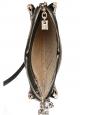 CHLOE sac LUCY à bandoulière en cuir, chèvre velours, ayers noir et studs argentés NEUF