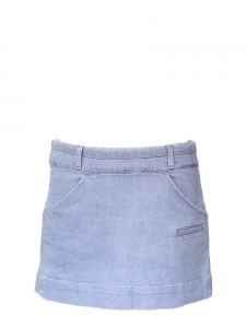 Periwinkle blue denim mini skirt Retail price €350 Size 38